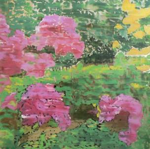peinture à l'huile sur plexiglas V